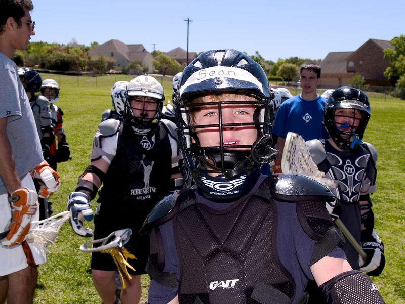 Enthusiastic lacrosse players.