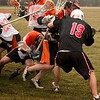 Ground ball melee.