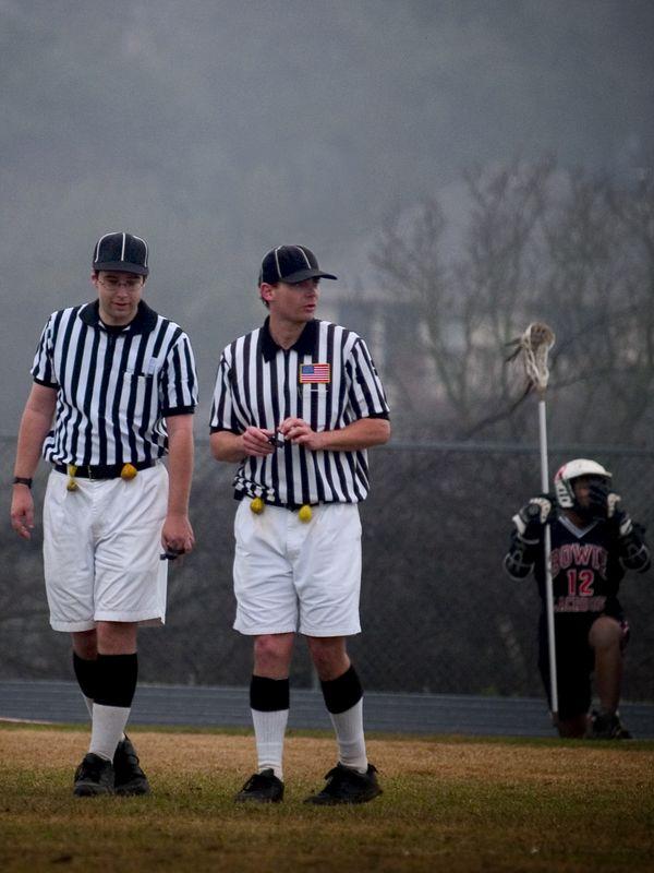 Lacrosse referees.