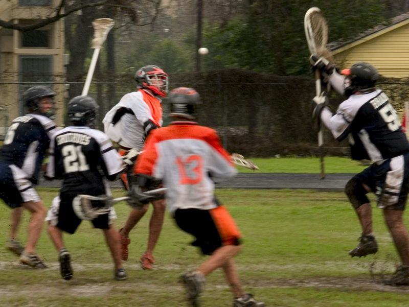Another shot from Suniga as opposing goalie steps into the ball.