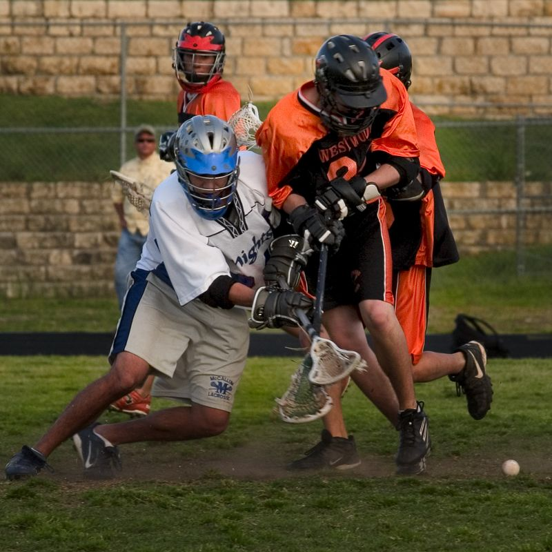 Trevor Brown sends the ball out of the face-off.