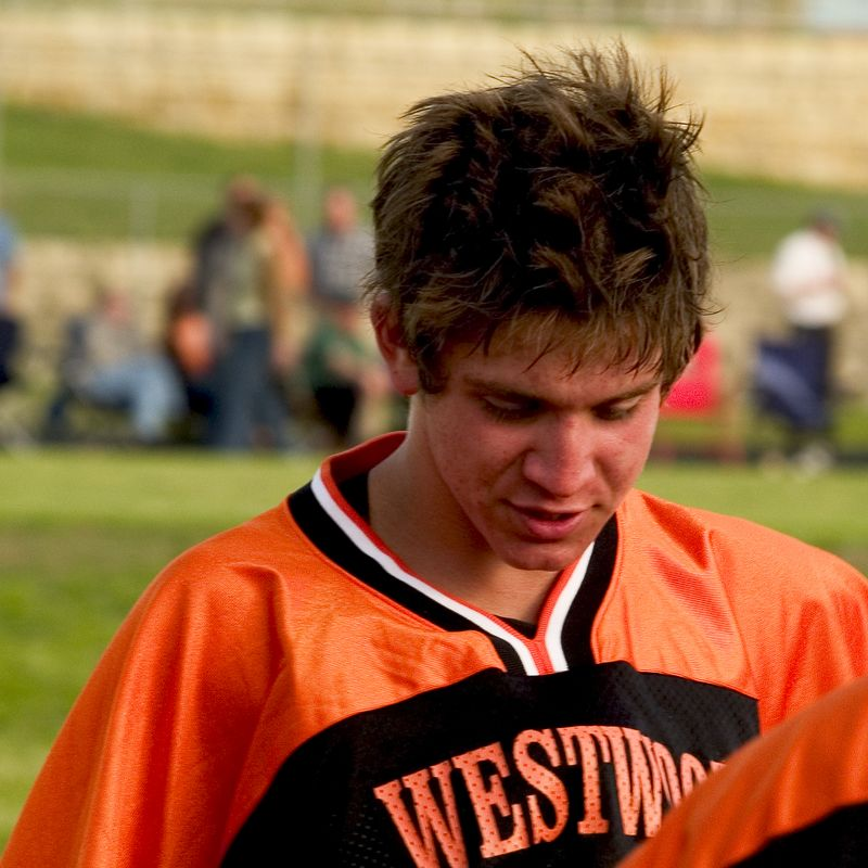 Jamie Zarate (sophomore, goalie) flashes a smile during a tough game.