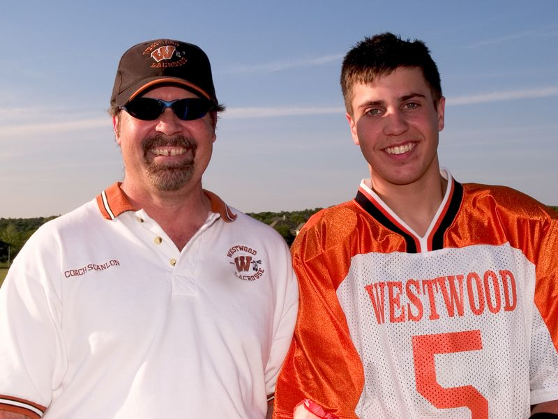 Cory Scanlon, with father and Assistant Varsity Coach, Steve