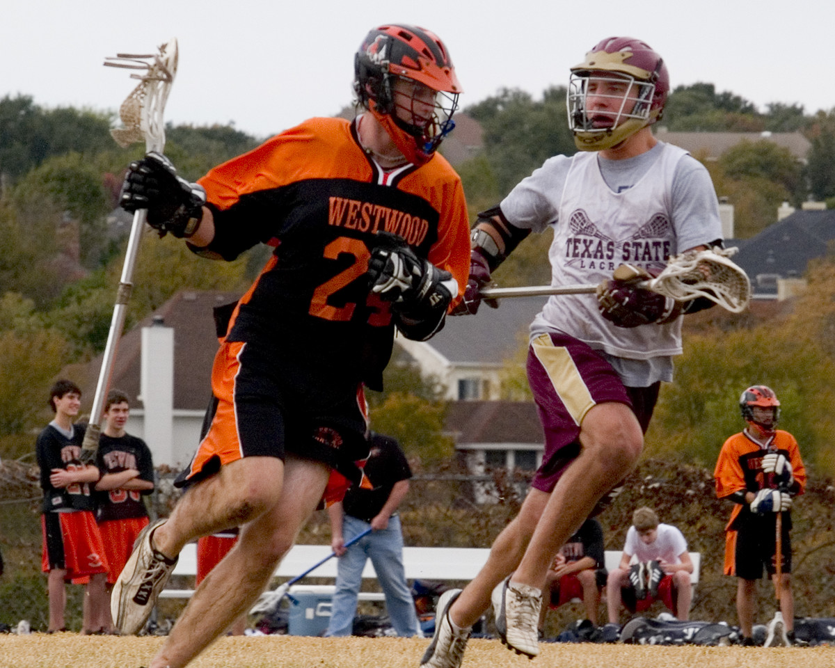 Ryan Horton, WW midfield, taking on alum and former All-American Jake Henderson who now plays for Texas State.