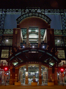 Coors Field at night