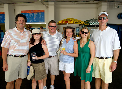 Dave, Sarah, Michael and Susan of Anderson with Allison and Scott of Hyde Park at the tennis tournament in Mason on Aug 16, 2009