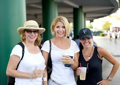 Jamie Neel, Rachel Mazzier and Kim Ossenberg of Evansville, IN at the tennis tournament in Mason on Aug 16, 2009