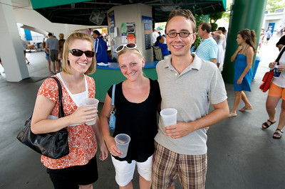 Julie, Suzy and Justin of Cincinnati at the tennis tournament in Mason on Aug 16, 2009