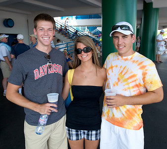 Bill Devoe of Clifton, Lindsay Triska of Anderson and Ben Scruby of Lebanon at the tennis tournament in Mason on Aug 16, 2009