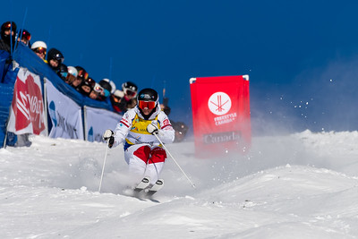 Mont-Tremblant, QC - January 27 -  Perinne Laffont's gold medal run at the Coupe Du Monde De Bosses Tremblant Finals at Tremblant, Photo par Gary Yee