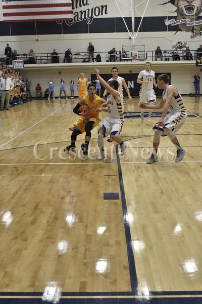 03-04-16 Sports D-IV Dist Finals Ayersville vs Fayette BBK