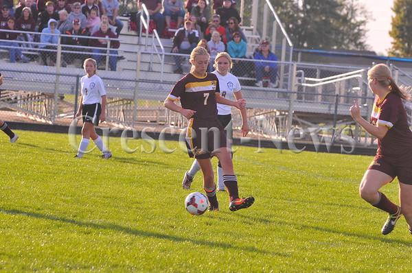 10-11-16 Sports Kalida @ Continental Girls soccer