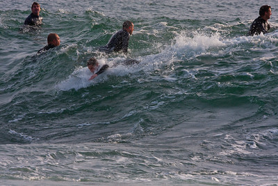 Surfing off Terrigal Point, NSW, Australia