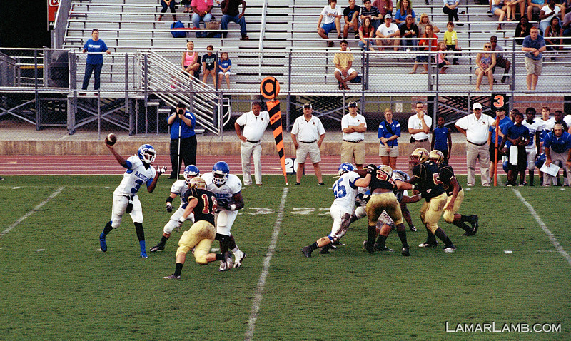 Vidalia High School vs West Laurens. 23 August, 2013.  Camera: Nikon FM.  Film: Kodak Portra 400 at ISO 1600 and pushed 2 stops in Tetenal C-41 chemicals. Lens: Nikkor 80-200mm f/2.8D
