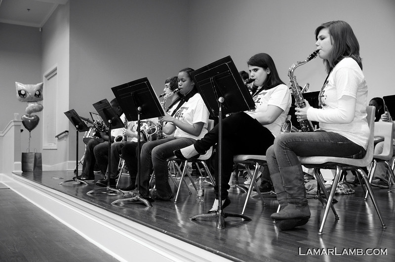 Toombs-Vidalia Jazz Band plays on Feb 26th, 2013 at the SOAP Spaghetti Supper in Vidalia Georgia.