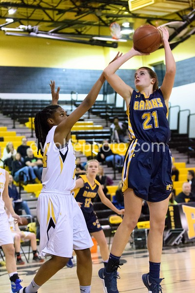 BCC's Caitlyn Clendenin gets off a jumper for two.