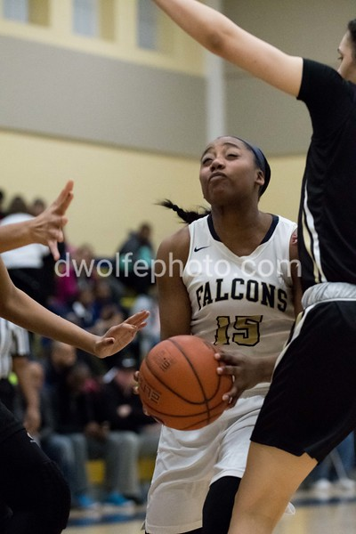 Maya Riley ignores the St Paul VI torpedos and goes full steam ahead driving the lane.