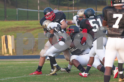Westfield's ball advancement is stymied by Quince Orchard's defense.