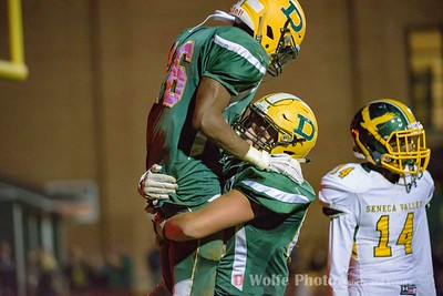 Damascus senior Markus Vinson gets hoisted in the air after sociring another touchdown.