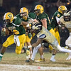 Running back for Damascus, Markus Vinson, slips the last potential tackler on his way to another touchdown.
