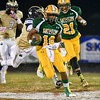Damascus running back Markus Vinson returns the opening kickoff in the battle against Potomac for a touchdown.
