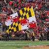The celebration of a touchdown by the Terps means running the state flag across the backfield at the student end of the stadium.