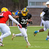 Darius Golston representing Seneca Valley for Team Washington carries a pass for a first down.