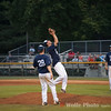 Kyle Colgain, pitcher for the Gaithersburg Giants catches a short pop-fly.