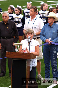 Daniel Field Re-Dedication Ceremony. Superintendent Sandy Johnson.