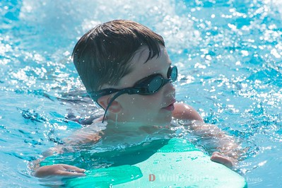 At age 6, Anthony Trentadue, Md., wins the 6 and under kick board event.  Anthony swims for the Churchill Village South Sundevils of Germantown