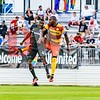 DC United forward Alhaji Kamara and midfielder Jean-Marc Alexandre.