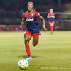 Washington Spirit forward Crystal Dunn on the attack with the ball.