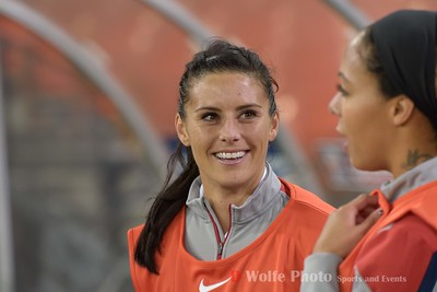 Allie Krieger, a hometown Washington Spirit was a designated sub for the game on Monday.