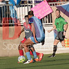 Toni PRessley of the Orlando Pride going 1v1 with Crystal Dunn of the Washington Spirit.