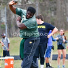 Seneca Valley's , Olawola Layeni taking his second shot of the day landing him in 4th place overall in the boys shotput. 9th Annual Screaming Eagles Invitational.  Photos by David Wolfe ©