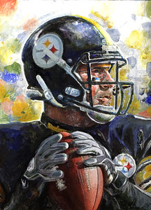 Ben Roethlisberger 9x12 Acrylic/Oil on gessoed art board