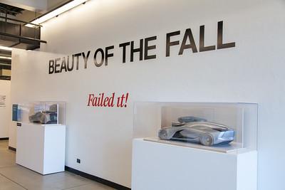Art Center student's work is displayed in the campus hallways.