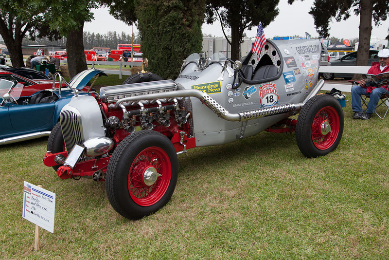 """Milt """"Pee-Wee"""" Thomas' 1936 Beerster """"Great Race"""" car - participated in 2007 & 2012."""