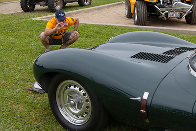 Nicolas Hunziker captures Steve McQueen's 1956 Jaguar XKSS - D-Type. (On display courtesy, The Peterson Museum)