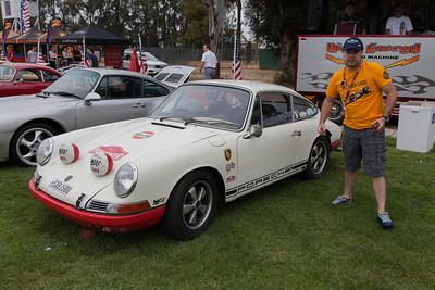 Nicolas Hunziker and his 1968 Porsche 911T Sports Purposes.