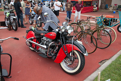Lee Chanrasena's 1941 Indian motorcycle.