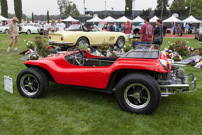 "Bruce Meyers', Meyers Manx buggy replica, as driven by Steve McQueen in ""The Thomas Crown Affair""."