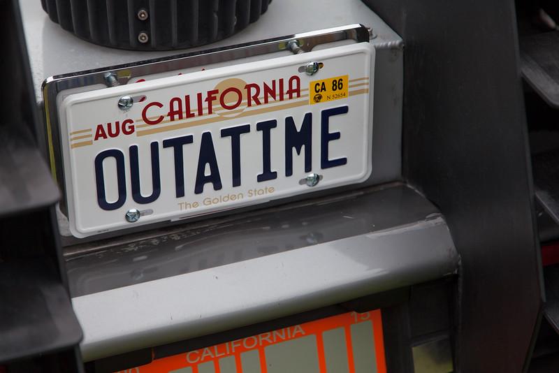 """OUTATIME - """"Back to the Future"""" DeLorean DMC-12 replica"""