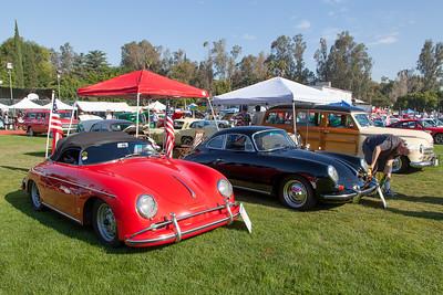 [L-R] 1958 Porsche Speedster, 1962 Porsche 356B-S90