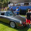 Chad admiring an outlaw Porsche