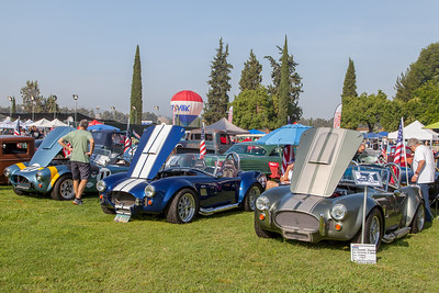 (R-L) 1965 Shelby Cobra (Factory 5), 1965 Shelby Cobra, (Factory 5), 1964 Shelby FIA Cobra