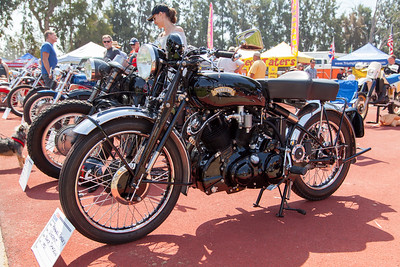 1951 Vincent Black Shadow, owned by Michael Begeley