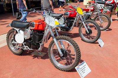 (L-R) 1972 Husqvarna WR 450, 1971 Husqvarna 400 Cross
