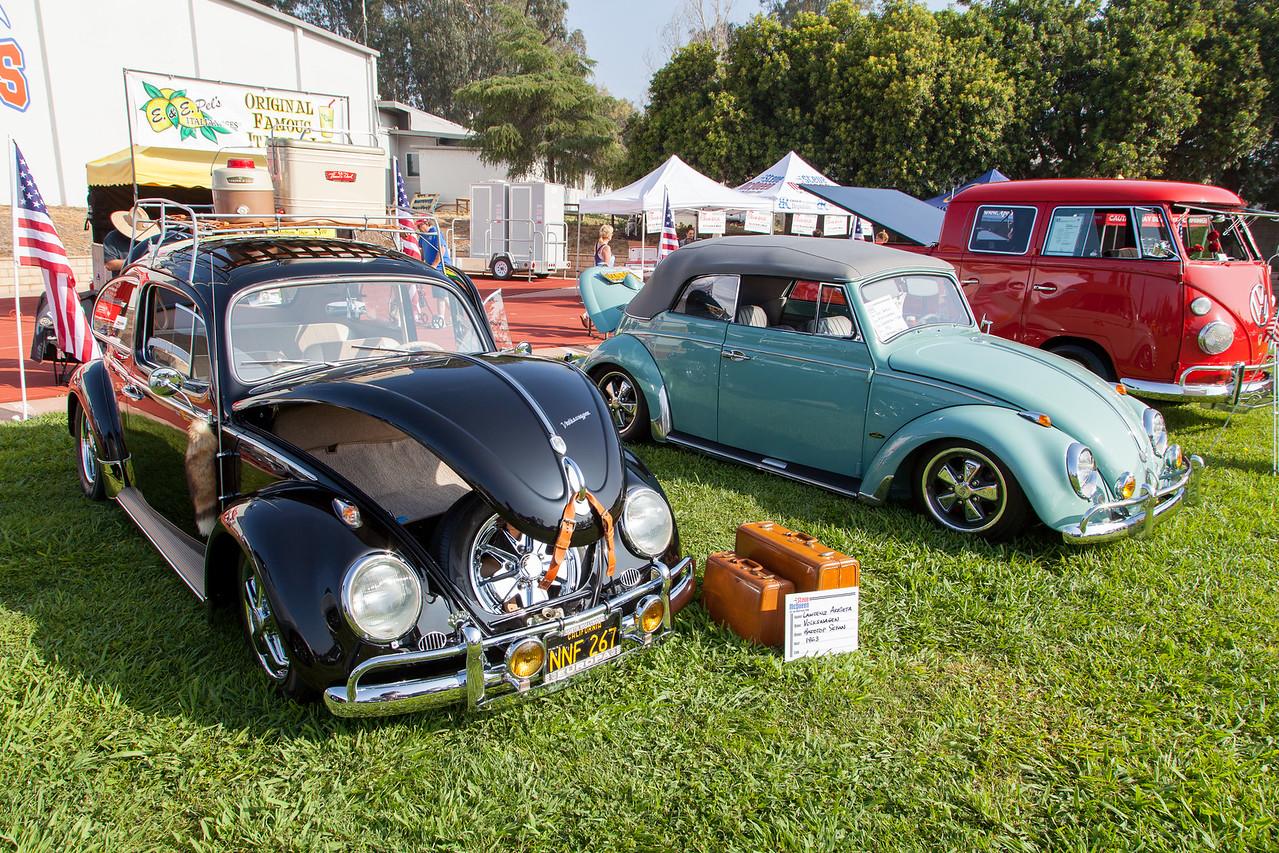 (L-R) 1963 Volkswagen Hardtop Sedan, 1962 Volkswagen Convetible 1 Bug