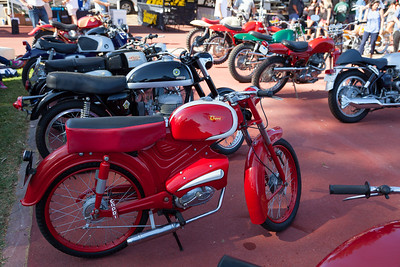 Several unique and rare motorcycles on display